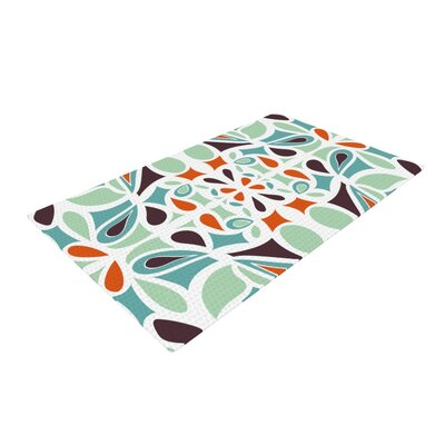 Miranda Mol Stained Glass Orange/Purple Area Rug Rug Size: 2 x 3