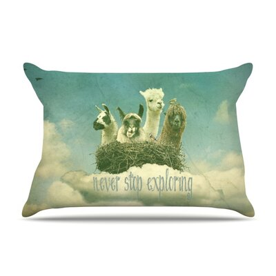 Never Stop Exploring by Monika Strigel Featherweight Pillow Sham Size: Queen, Fabric: Woven Polyester