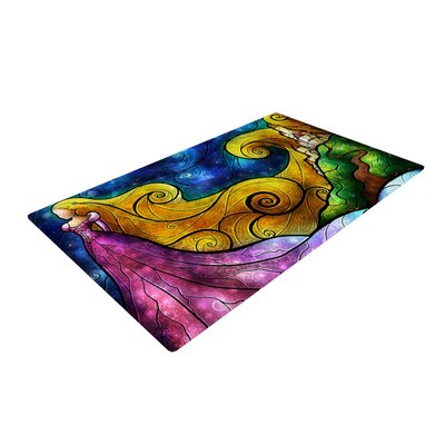 Starry Lights Yellow Area Rug Rug Size: 4 x 6