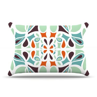 Orange Purple Stained Glass by Miranda Mol Featherweight Pillow Sham Size: King, Fabric: Woven Polyester