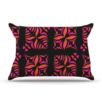 Orange on Black Pillow Case Size: Standard