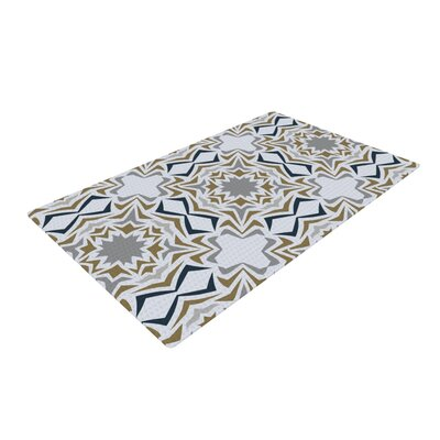 Miranda Mol Ice Stars Blue/White Area Rug Rug Size: 2 x 3