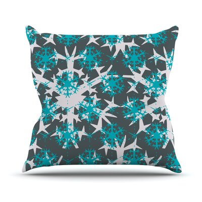Throw Pillow Size: 26 H x 26 W, Color: Tree Snow Flakes