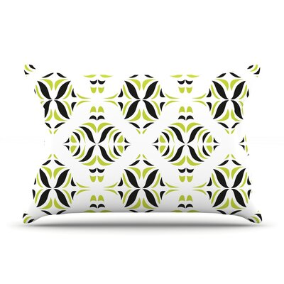 Pillow Case Size: King, Color: Lime Green Rainforest