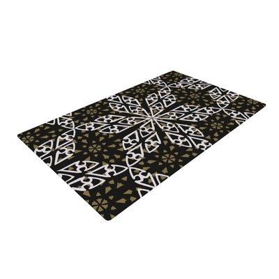 Miranda Mol Ethnical Snowflakes Gray/White Area Rug Rug Size: 4 x 6