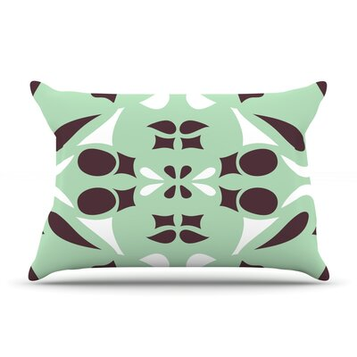 Swirling Teal by Miranda Mol Featherweight Pillow Sham Size: King, Fabric: Woven Polyester