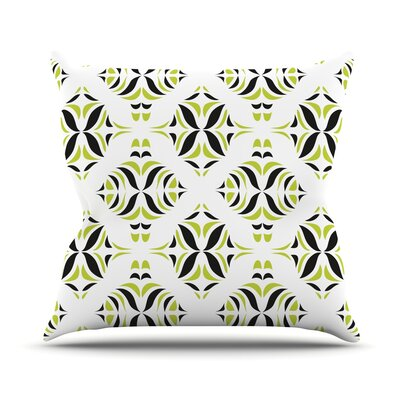 Throw Pillow Size: 16 H x 16 W, Color: Lime Green Rainforest