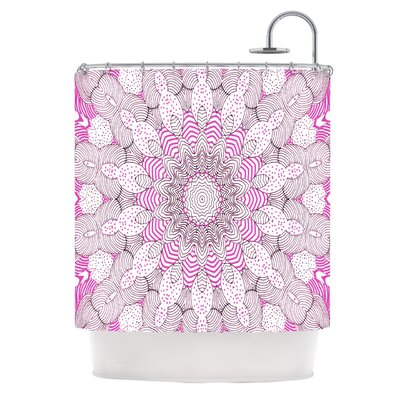 Dots and Stripes Shower Curtain Color: Pink