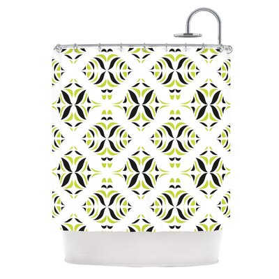 Shower Curtain Color: Lime Green Rainforest