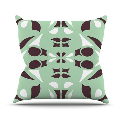 Swirling Teal Throw Pillow Size: 18 H x 18 W