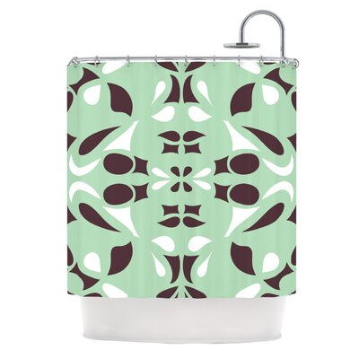 Swirling Teal Shower Curtain