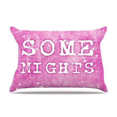 Some Nights by Monika Strigel Featherweight Pillow Sham Size: King, Fabric: Woven Polyester
