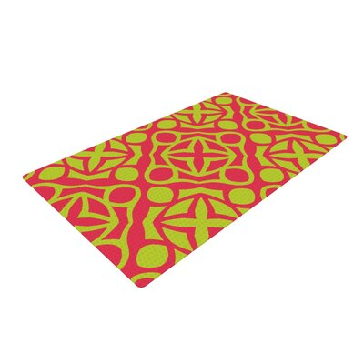 Miranda Mol Holiday Yellow/Pink Area Rug Rug Size: 4 x 6