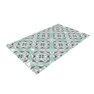 Miranda Mol Winter Pool Gray/White Area Rug Rug Size: 2 x 3