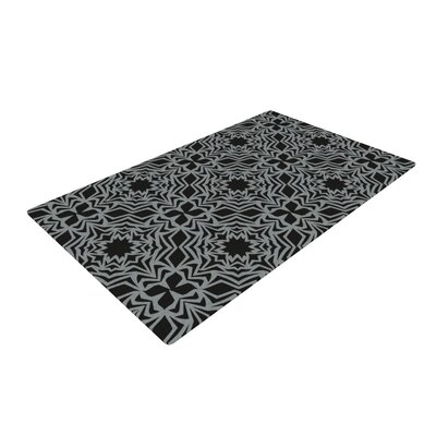 Miranda Mol Optical Fest Black/White Area Rug Rug Size: 4 x 6