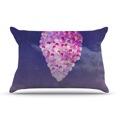 Never Stop Exploring IV by Monika Strigel Featherweight Pillow Sham Size: Queen, Fabric: Woven Polyester