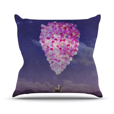Never Stop Exploring IV Throw Pillow Size: 26 H x 26 W