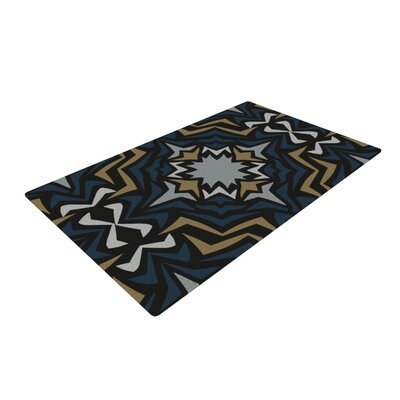Miranda Mol Winter Fractals Black/Yellow Area Rug Rug Size: 4 x 6