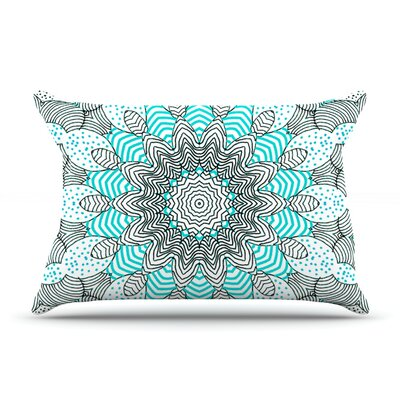 Dots and Stripes by Monika Strigel Featherweight Pillow Sham Size: King, Color: Mint, Fabric: Woven Polyester