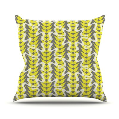 Whirling Leaves Throw Pillow Size: 16 H x 16 W