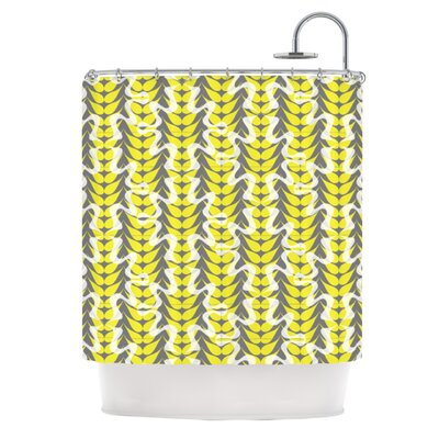 Whirling Leaves Shower Curtain
