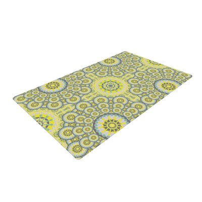 Miranda Mol Multifaceted Flowers Yellow/White Area Rug Rug Size: 4 x 6