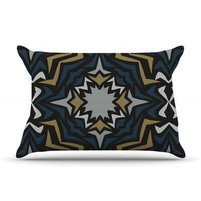 Winter Fractals by Miranda Mol Featherweight Pillow Sham Size: King, Fabric: Woven Polyester