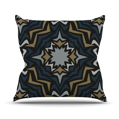 Winter Fractals Throw Pillow Size: 18 H x 18 W
