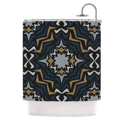 Winter Fractals Shower Curtain