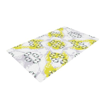 Miranda Mol Vernal Season Yellow/White Area Rug Rug Size: 4 x 6