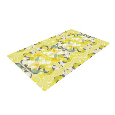 Miranda Mol Spring Flourish Yellow/White Area Rug Rug Size: 2 x 3