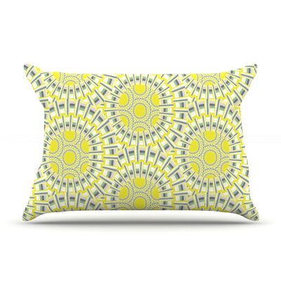 Sprouting Cells by Miranda Mol Featherweight Pillow Sham Size: Queen, Fabric: Woven Polyester
