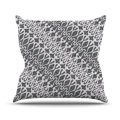 Silver Lace Throw Pillow Size: 18 H x 18 W