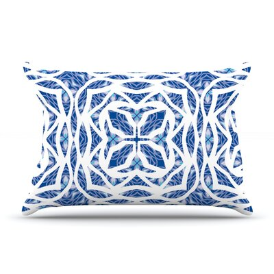 Blue Explosion by Miranda Mol Featherweight Pillow Sham Size: King, Fabric: Woven Polyester