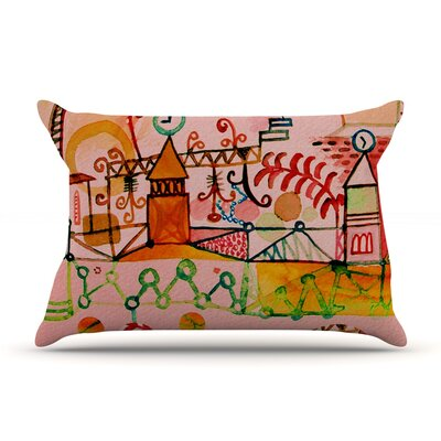 Happy Town Pillow Case Size: Standard