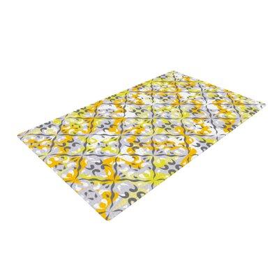 Miranda Mol Effloresco Yellow Area Rug Rug Size: 4 x 6