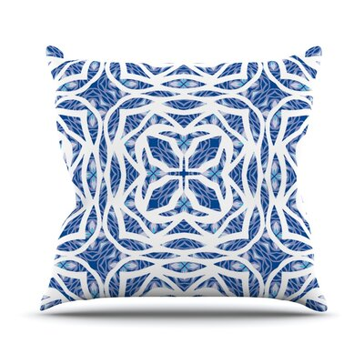Blue Explosion Throw Pillow Size: 18 H x 18 W