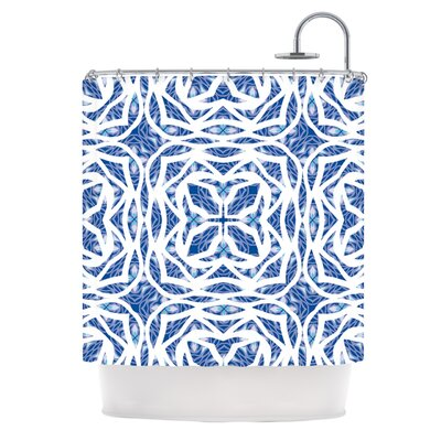 Blue Explosion Shower Curtain