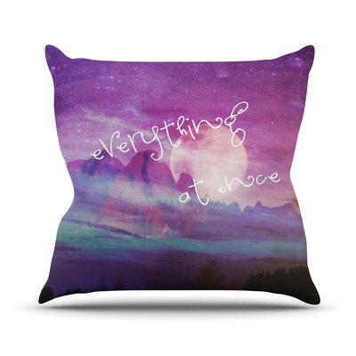 Everything at Once Throw Pillow Size: 18 H x 18 W
