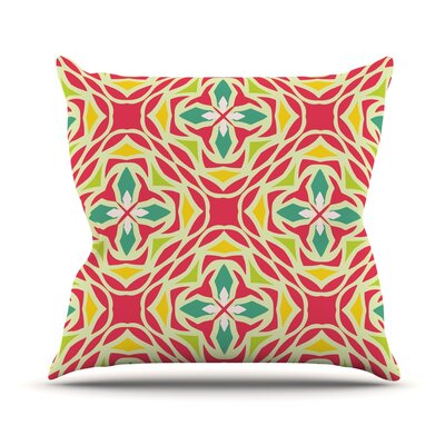 Christmas Carnival Throw Pillow Size: 16 H x 16 W