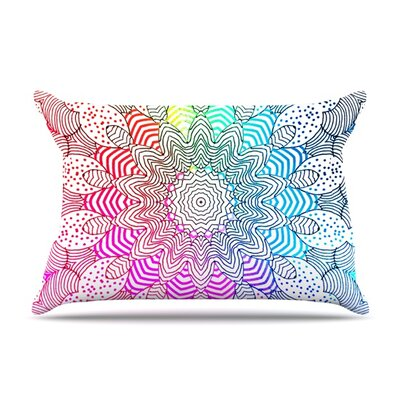 Rainbow Dots by Monika Strigel Featherweight Pillow Sham Size: Queen, Fabric: Woven Polyester