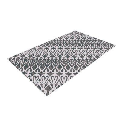 Miranda Mol Lace Silver Area Rug Rug Size: 4 x 6