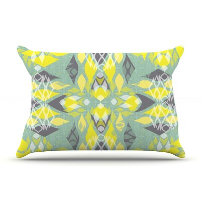 Joyful Teal by Miranda Mol Featherweight Pillow Sham Size: King, Fabric: Woven Polyester