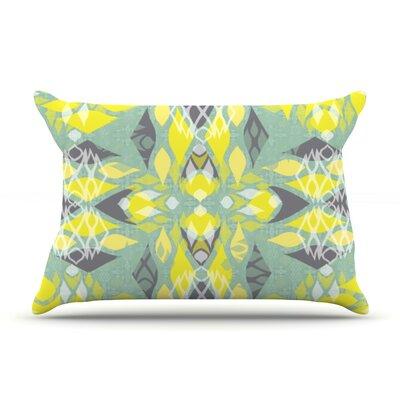 Joyful Teal by Miranda Mol Featherweight Pillow Sham Size: Queen, Fabric: Woven Polyester