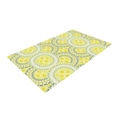 Miranda Mol Blossoming Buds Yellow/Gray Area Rug Rug Size: 4 x 6