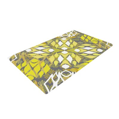 Miranda Mol Sandy Signs Yellow/White Area Rug Rug Size: 2 x 3