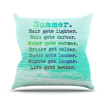 Summer XXL Throw Pillow Size: 26 H x 26 W