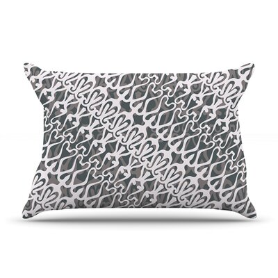 Silver Lace Pillow Case Size: King