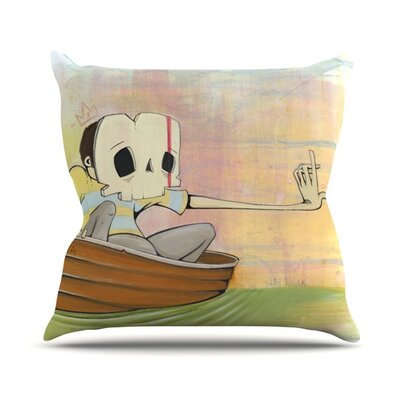 Drifting Throw Pillow Size: 18 H x 18 W