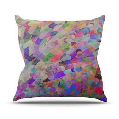 Abstract Throw Pillow Size: 16 H x 16 W